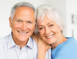 whiter teeth on older couple